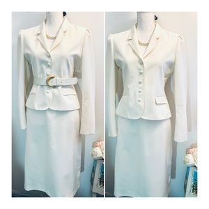 Whip-O-Wil skirt suit in cream white